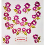 Purple Flowers Embroidered Motif Badge for multipurpose use MT0023
