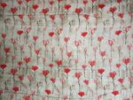 Gajri Pink Flowers Print Cotton Fabric for bottom / Kurti PC399