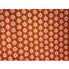 White Small Flowers on Orange Base Printed Cotton Fabric for bottom / Kurti (per meter price) PC400