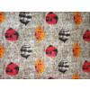 Multicolour print on Grey Base Printed Cotton Fabric for bottom / Kurti (per meter price) PC401