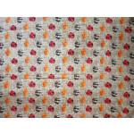 Multicolour print on Grey Base Printed Cotton Fabric for bottom / Kurti PC401