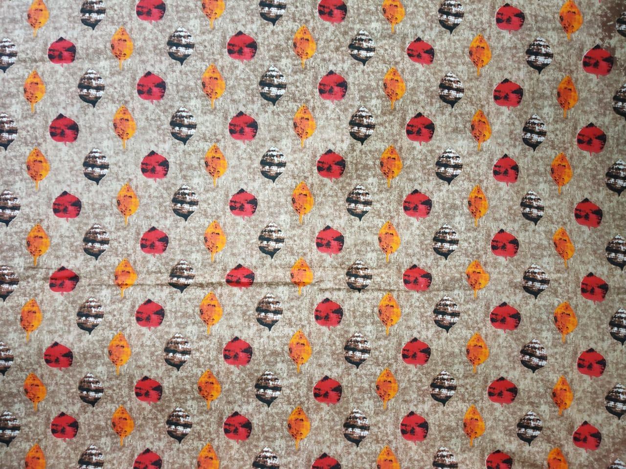 Multicolour print on Grey Base Printed Cotton Fabric for bottom / Kurti PC401 2