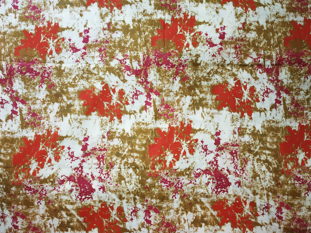 Red brown Marble Print Cotton Fabric for bottom / Kurti PC402 2