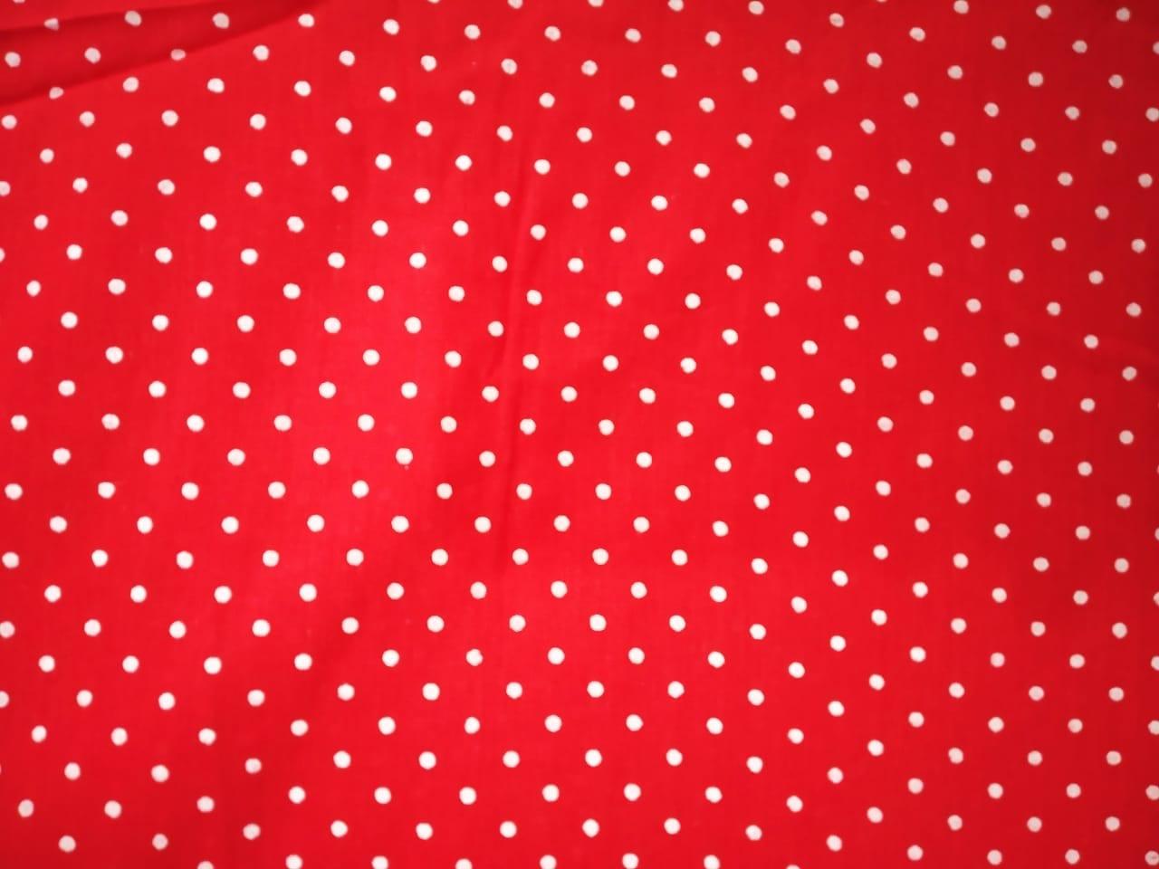 Redbase white polka dots print Pure cotton for bottom / Kurti PC407 1