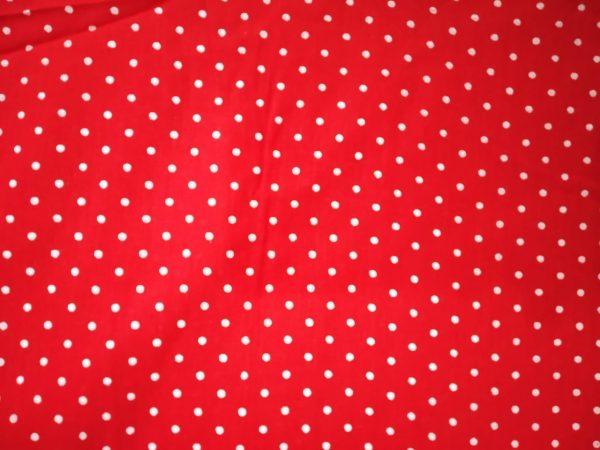 Redbase white polka dots print Pure cotton for bottom / Kurti (per meter price) PC407