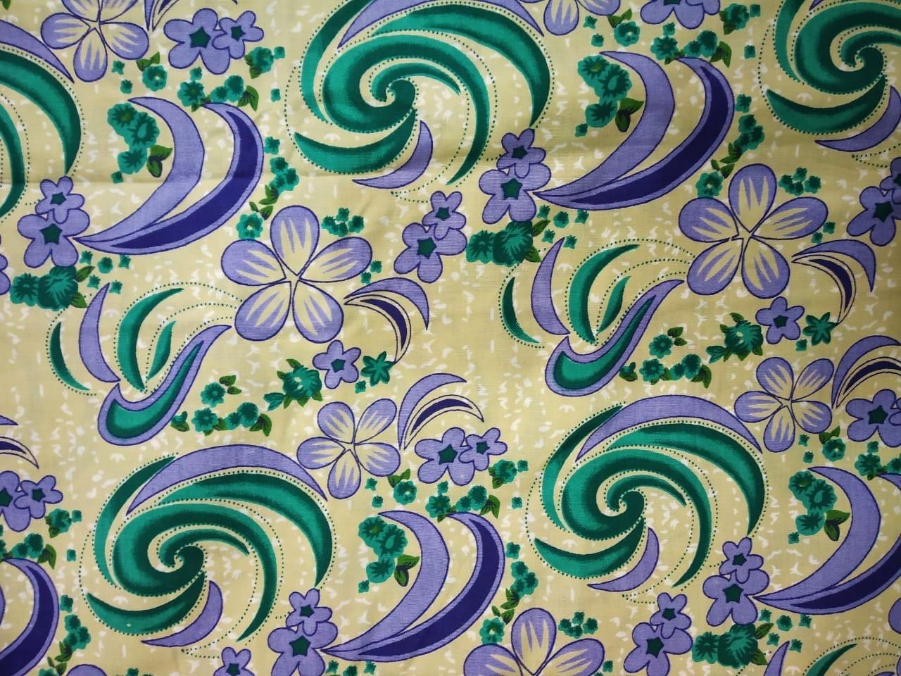 Fawn Base Multicolour allover print Pure cotton for bottom / Kurti PC408 1