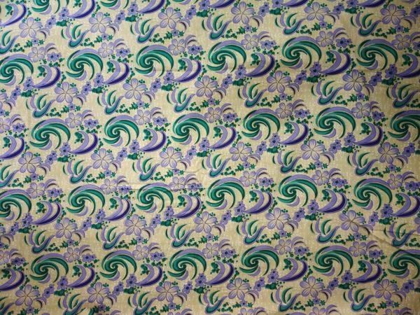 Fawn Base Multicolour allover print Pure cotton for bottom / Kurti (per meter price) PC408