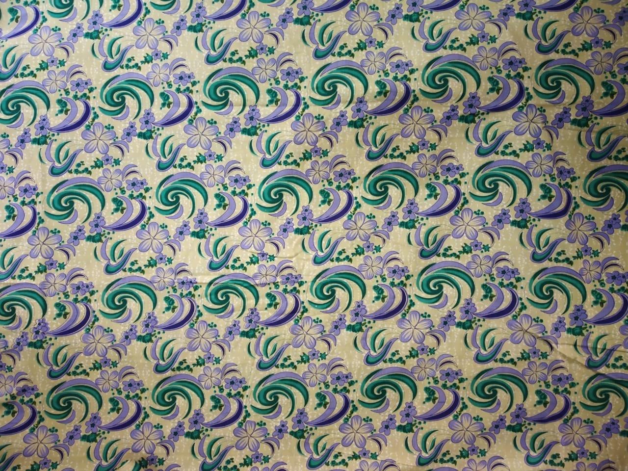 Fawn Base Multicolour allover print Pure cotton for bottom / Kurti PC408 2