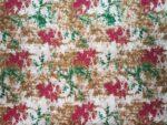 White Base Multicolour allover print Pure cotton for bottom / Kurti PC411