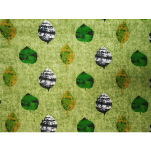 Light Green allover print Pure cotton for bottom / Kurti PC413