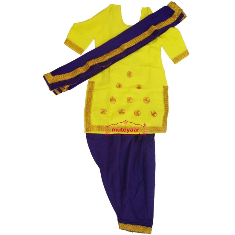 Blue Yellow custom made GIDDHA  Costume outfit suit  dress