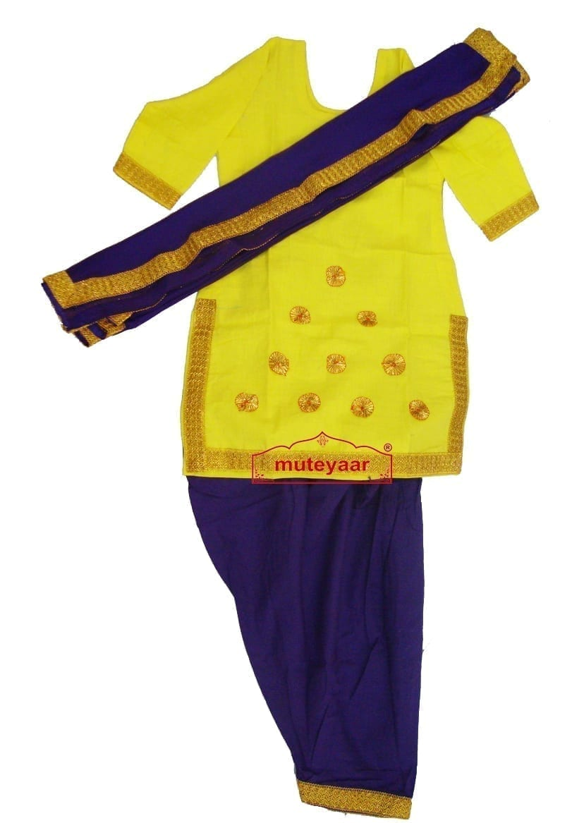 Blue Yellow custom made GIDDHA  Costume outfit suit  dress 1
