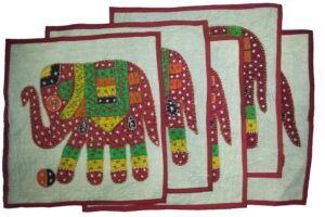 Set of 5 hand embroidered patch work cushion covers CC003