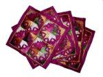 Set of 5 hand embroidered PHULKARI cushion covers CC006