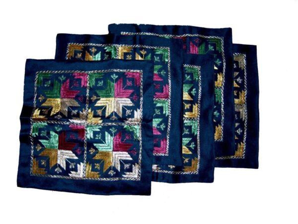 Set of 5 hand embroidered PHULKARI cushion covers CC009