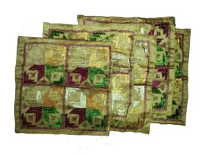 Set of 5 hand embroidered PHULKARI cushion covers CC017