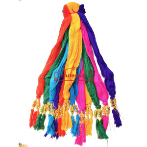 Colorful Drawstrings with beads – Lot of 12 pieces different Colors