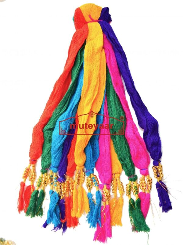 Colorful  Nala / Nara / Nada Drawstrings with beads - Lot of 12 pieces different Colors