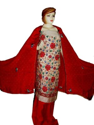 Tissue Cotton/Makhmali Suit pure chinon dupatta JAAL EMBR. H0069