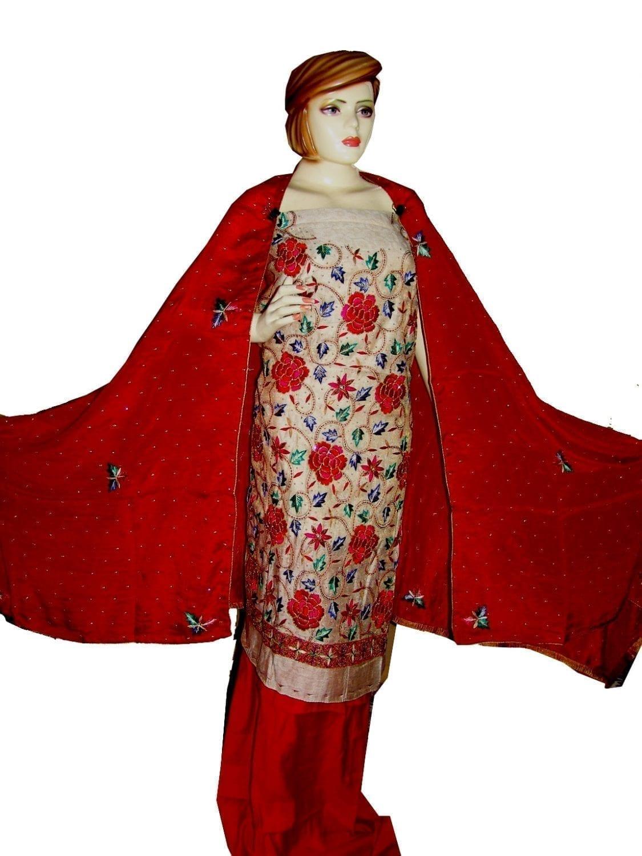 Tissue Cotton/Makhmali Suit pure chinon dupatta JAAL EMBR. H0069 1