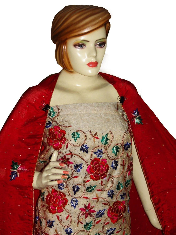 Tissue Cotton/Makhmali Suit pure chinon dupatta JAAL EMBR. H0069 3