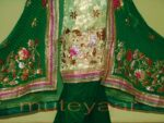 FULL PATIALA PURE Brochier Hand Emb PUNJABI BRIDAL Suit CHINON Chunni H0165