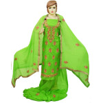 Parrot Green Silk Hand Embroidered Punjabi Salwar Kameez Suit H0200