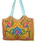 Kashmiri College Bag Hand made embroidered Office /  Shopping Bag HB114