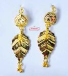 Gold Polished Designer Patti Earrings 1.5 inch long J0453