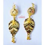 Gold Polished Designer Patti Earrings 1.5 inch long J0453