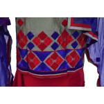 3D Embroidered Chanderi Cotton Punjabi Suit with Chiffon Dupatta M0340