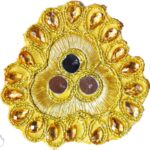 Golden Mirror Kundan Embroidered Motif for use on Lehenga, kurti etc. MT005
