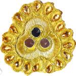 Golden Mirror Kundan Embroidered Motif for use on Lehenga, kurti etc. MT005