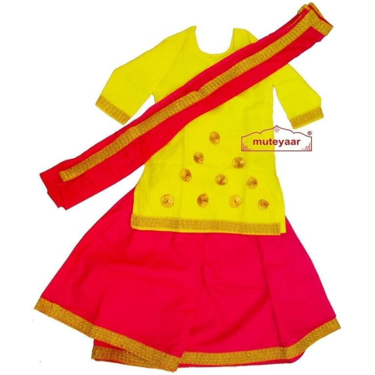 Magenta Yellow custom made GIDDHA  Costume outfit dance dress