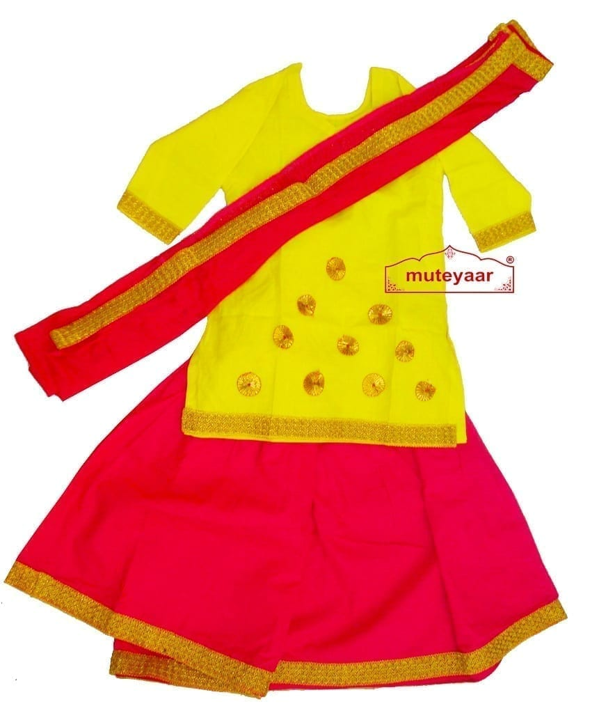 Magenta Yellow custom made GIDDHA  Costume outfit dance dress 1