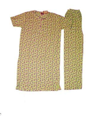 Pure Cotton Soft Hosiery Fabric Ladies Night Wear  Night Suit NS052