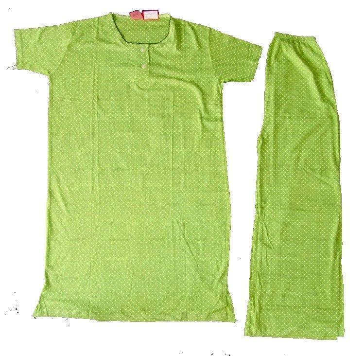 Pure Cotton Soft Hosiery Fabric Ladies Night Wear  Night Suit NS055 1