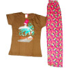 Pure Cotton Soft Hosiery Fabric Ladies Night Wear Night Suit NS059