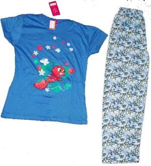 Pure Cotton Soft Hosiery Fabric Ladies Night Wear Night Suit NS060