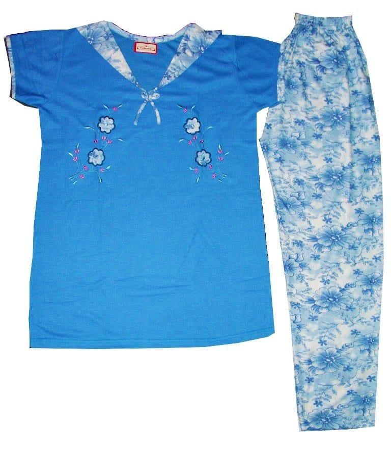 Pure Cotton Soft Hosiery Fabric Ladies Night Wear Night Suit NS064 1