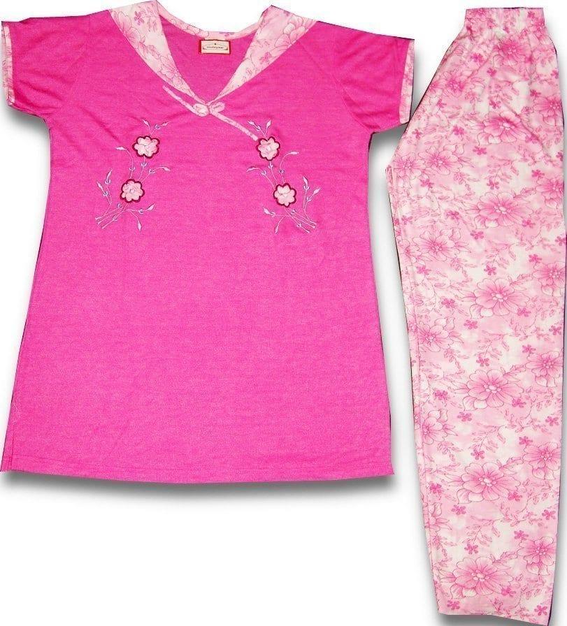 Pure Cotton Soft Hosiery Fabric Ladies Night Wear Night Suit NS065 1
