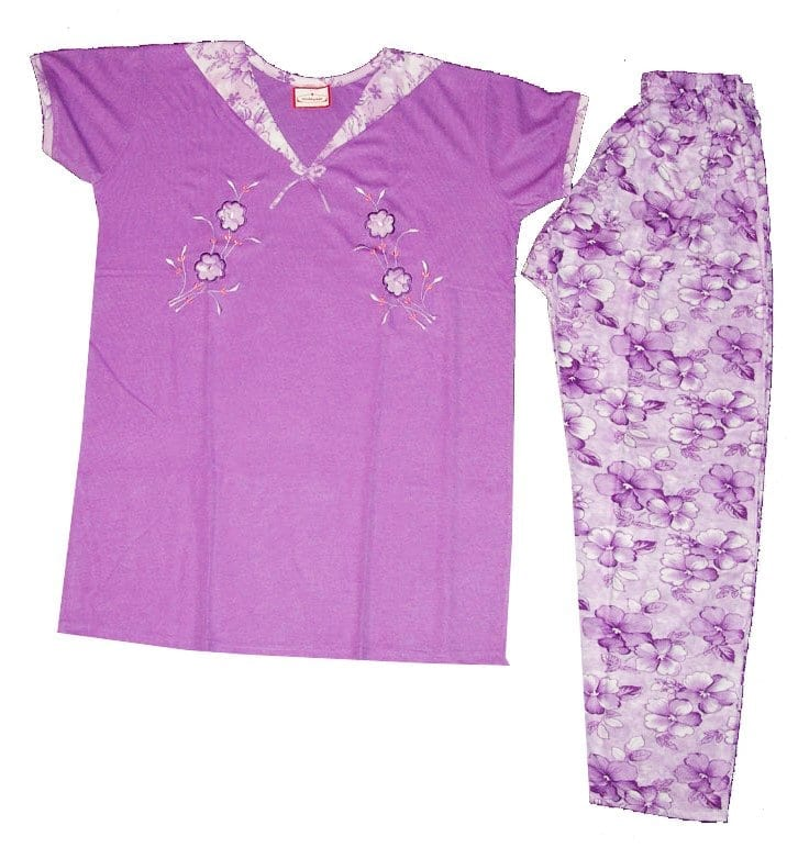 Pure Cotton Soft Hosiery Fabric Ladies Night Wear Night Suit NS066 1