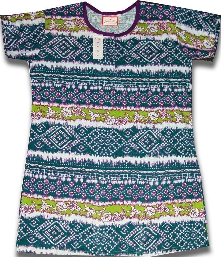 Pure Cotton Soft Hosiery Fabric Night Wear Kurti TOP NS071 1