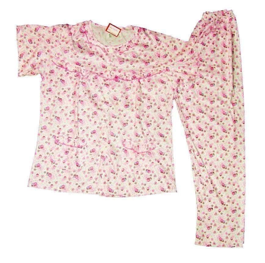 Pure Cotton Soft Hosiery Fabric Ladies Night Wear Night Suit NS082 1