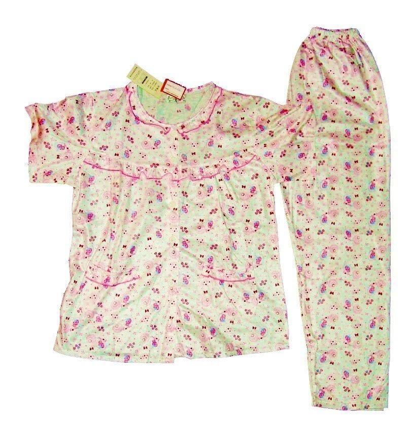 Pure Cotton Soft Hosiery Fabric Ladies Night Wear Night Suit NS083 1