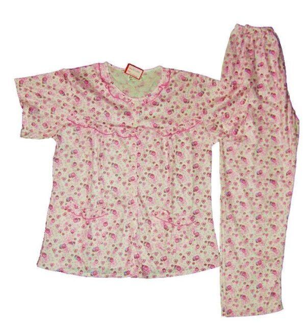Pure Cotton Soft Hosiery Fabric Ladies Night Wear Night Suit NS084