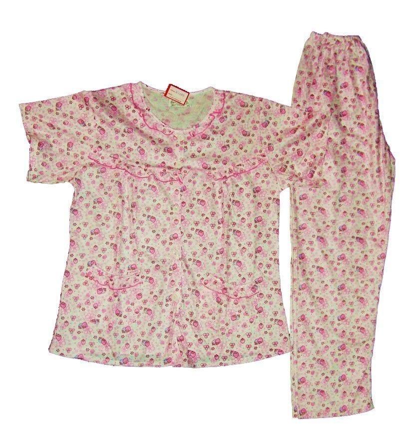Pure Cotton Soft Hosiery Fabric Ladies Night Wear Night Suit NS084 1