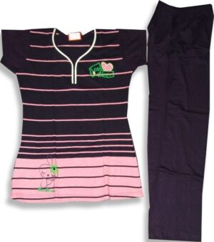 Pure Cotton Soft fabric Ladies Free-Size Night Suit NS088