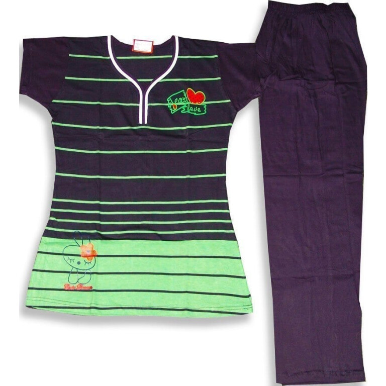 Pure Cotton Soft fabric Ladies Free-Size Night Suit NS090