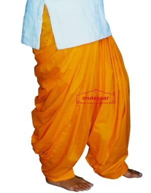 100% PURE COTTON kesri PATIALA SALWAR from Patiyala city !!